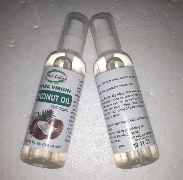 DẦU DỪA NGUYÊN CHẤT – RICH COCO – EXTRA VIRGIN COCONUT OIL